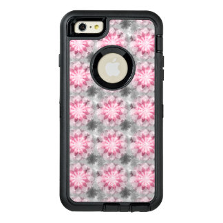 Floral Pink-gray Pattern OtterBox Defender iPhone Case