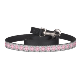 Floral Pink-gray Pattern Pet Leash