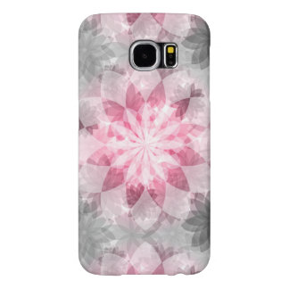 Floral Pink-gray Pattern Samsung Galaxy S6 Cases