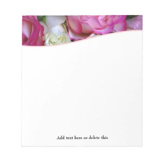 Floral Pink Notepad