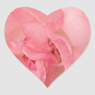 Floral Pink Rose Heart Stickers