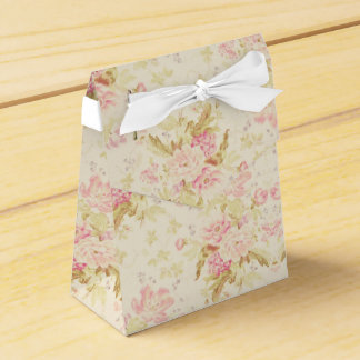 Floral Pink Wallpaper Girly Cute Wedding Favor Box
