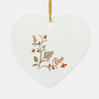 Floral Plant Ceramic Heart Decoration