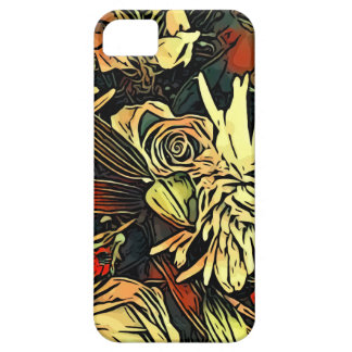 Floral popped iPhone Case