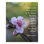 Floral Poster w Verse from Deuteronomy 31:6