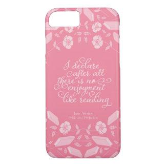Floral Pride & Prejudice Jane Austen Bookish Quote iPhone 8/7 Case