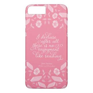 Floral Pride & Prejudice Jane Austen Bookish Quote iPhone 8 Plus/7 Plus Case