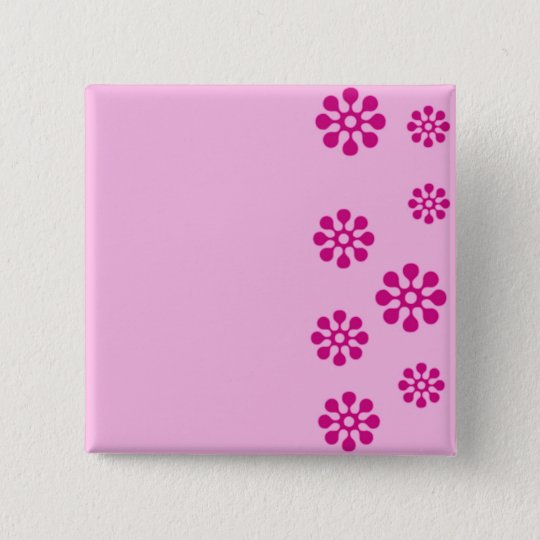 Floral print 15 cm square badge