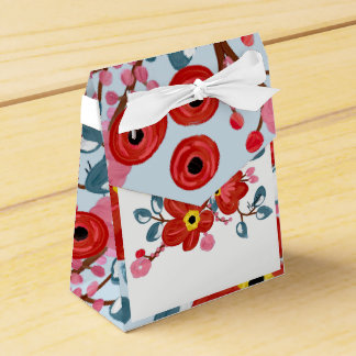 Floral Print Christmas Gift packing Favour Box