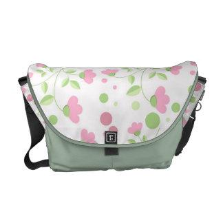 Floral Print Messenger Bag