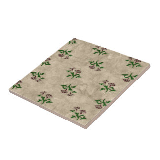 Floral Print Shabby Chic Pattern Trivet Small Square Tile