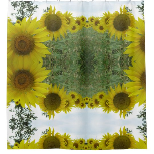 Floral Psychedeli Photo Shower Curtain