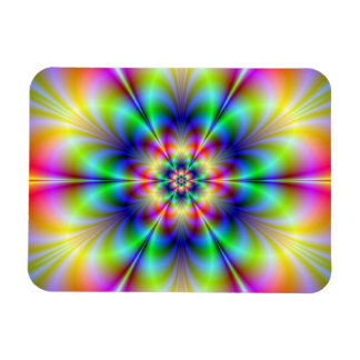 Floral Psychedelia Photo Magnet