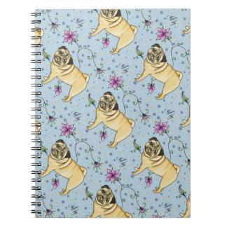 Floral Pug Notebook