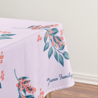 Floral Purple and Blue Customize Tablecloth
