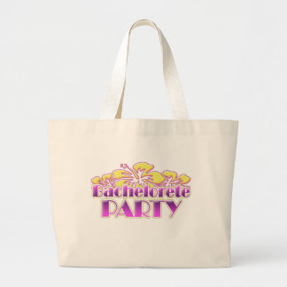 floral purple bachelorette party yellow flowers jumbo tote bag