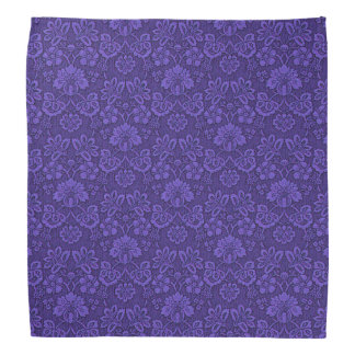 Floral purple decoration bandana