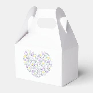 Floral Purple Lavender Heart Flower  Wedding Party Favour Box