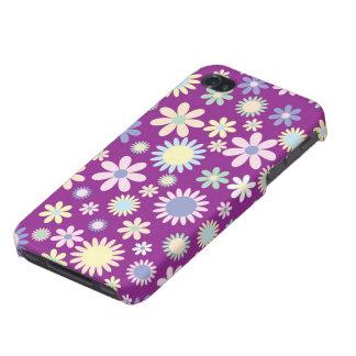 Floral purple lavender orchid flower iphone 4 case