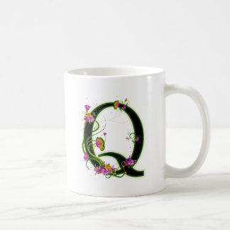 Floral Q Basic White Mug