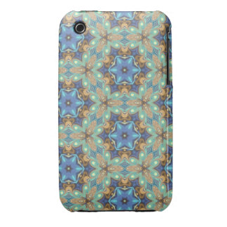Floral Quilt Abstract Case-Mate iPhone 3 Cases