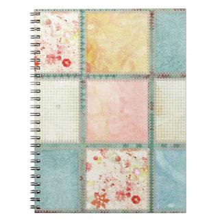 Floral Quilt Squares Square Notebooks
