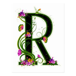 Floral R Postcard