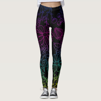Floral Rainbow Leggings
