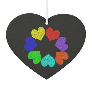 Floral Rainbow Love Hearts Air Freshener