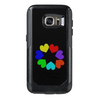 Floral Rainbow Love Hearts Phone Case