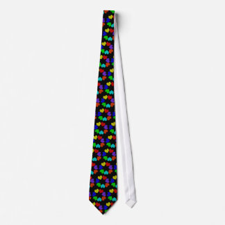 Floral Rainbow Love Hearts Tie
