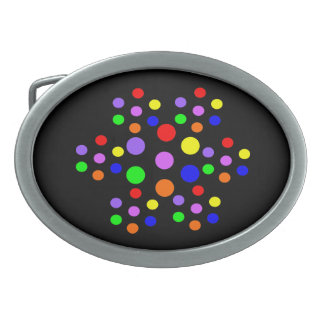 Floral Rainbow Spots Belt Buckle