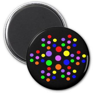 Floral Rainbow Spots Magnet
