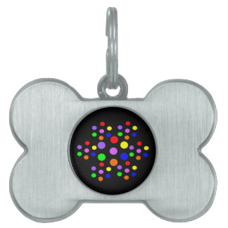 Floral Rainbow Spots Pet Tag