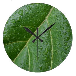 Floral Raindrops Wall Clock