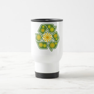 Floral Recycle Sign Mugs