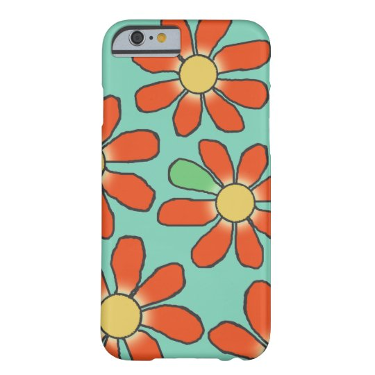Floral Red Graphical on any Colour Barely There iPhone 6 Case