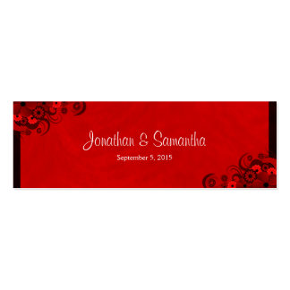 Floral Red Hibiscus Wedding Favour Favor Tags Business Card Templates