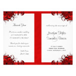Floral Red Hibiscus Wedding Program Templates 21.5 Cm X 28 Cm Flyer