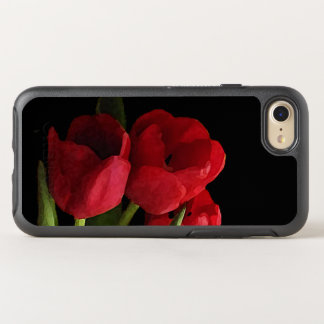 Floral Red Tulip Garden Flowers OtterBox Symmetry iPhone 7 Case