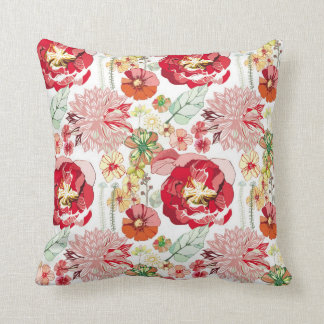 Floral Reds Cushion