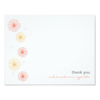 Floral Reflections Flat Note Card 11 Cm X 14 Cm Invitation Card