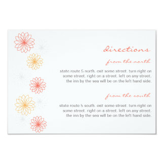 Floral Reflections Wedding Insert Card 9 Cm X 13 Cm Invitation Card