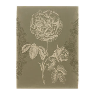 Floral Relief I Wood Wall Decor
