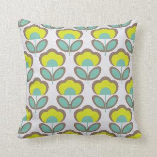 Floral Retro 70's Wallpaper Pattern Cushion
