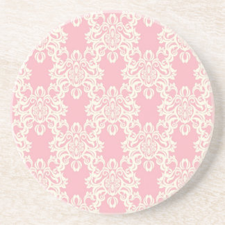 Floral retro damask coaster