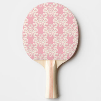 Floral retro damask ping pong paddle