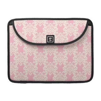 Floral retro damask sleeve for MacBooks