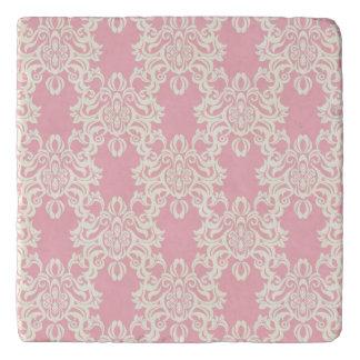 Floral retro damask trivet