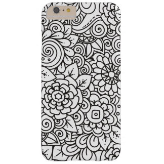 Floral Retro Doodle Barely There iPhone 6 Plus Case